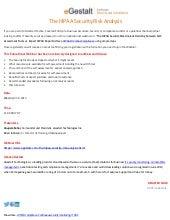 Upcoming Webinar - The HIPAA Security Risk Analysis