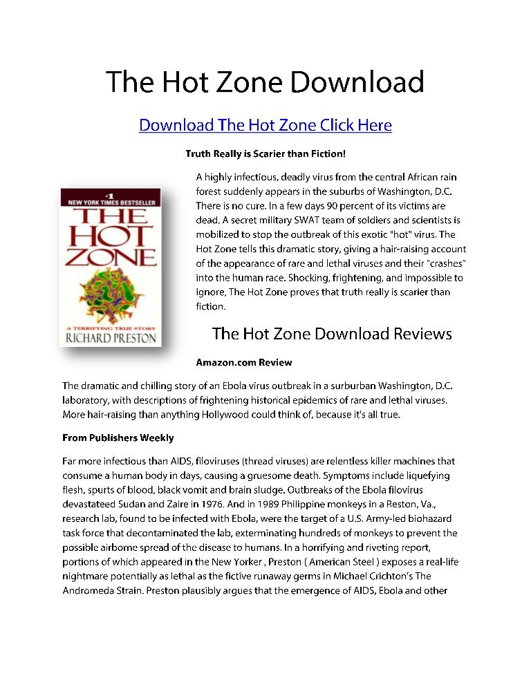≡Essays on The Hot Zone. Free Examples of Research Paper Topics, Titles GradesFixer