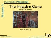 Film(&)Philosophie: The imitation game