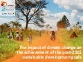 The impact of climate change on the achievement of the post-2015 Sustainable Development Goals