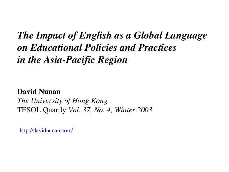 The impact of english as a global language on educational policies an…