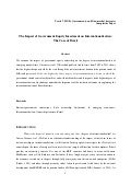 The impact of government equity investment on internationalization: the case of Brazil