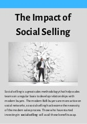 The Impact of Social Selling