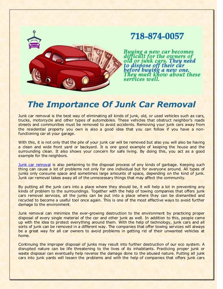 the importance of junk car removal