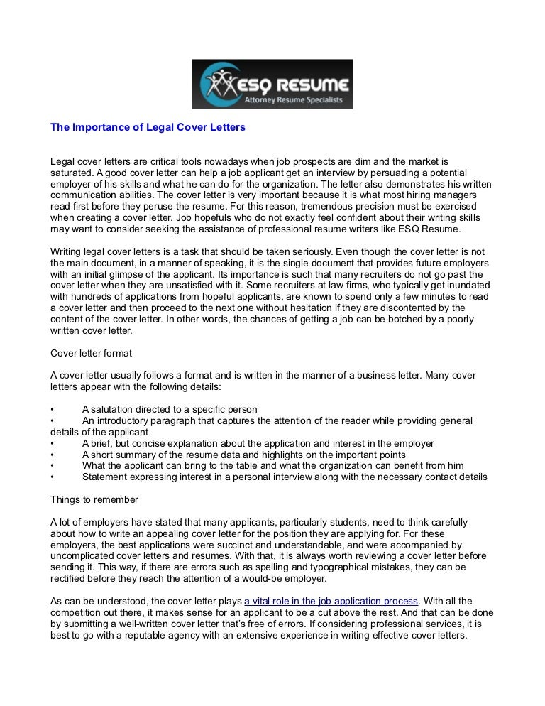 The Importance Of Legal Cover Letters 1 5