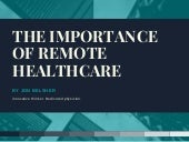The Importance of Remote Healthcare