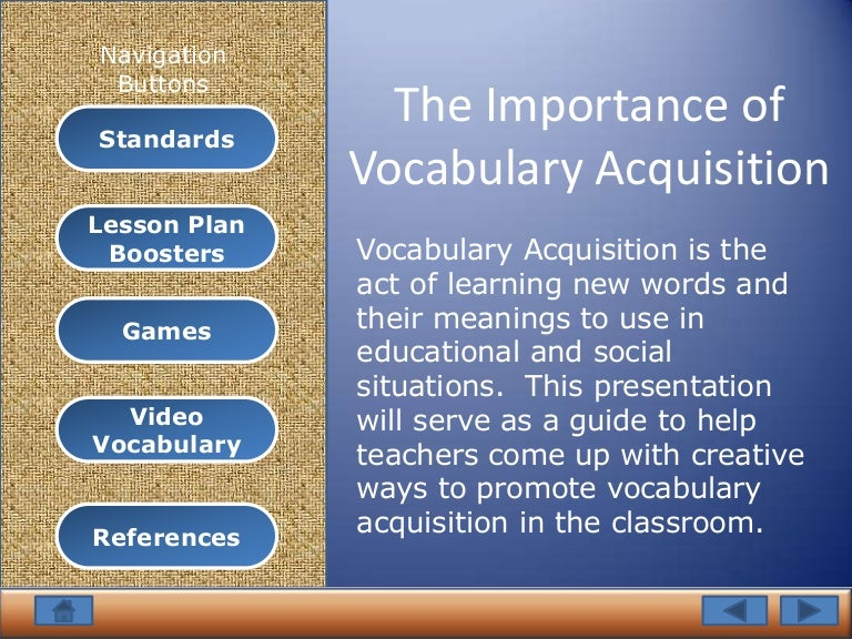 the importance of vocabulary skills for Vocabulary concepts and research what is vocabulary definitions of key vocabulary terminology examples of vocabulary skills vocabulary research vocabulary knowledge is learning, as a language based activity, is fundamentally and profoundly dependent.