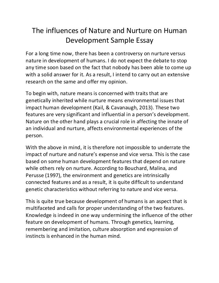 lifespan development and personality paper essay