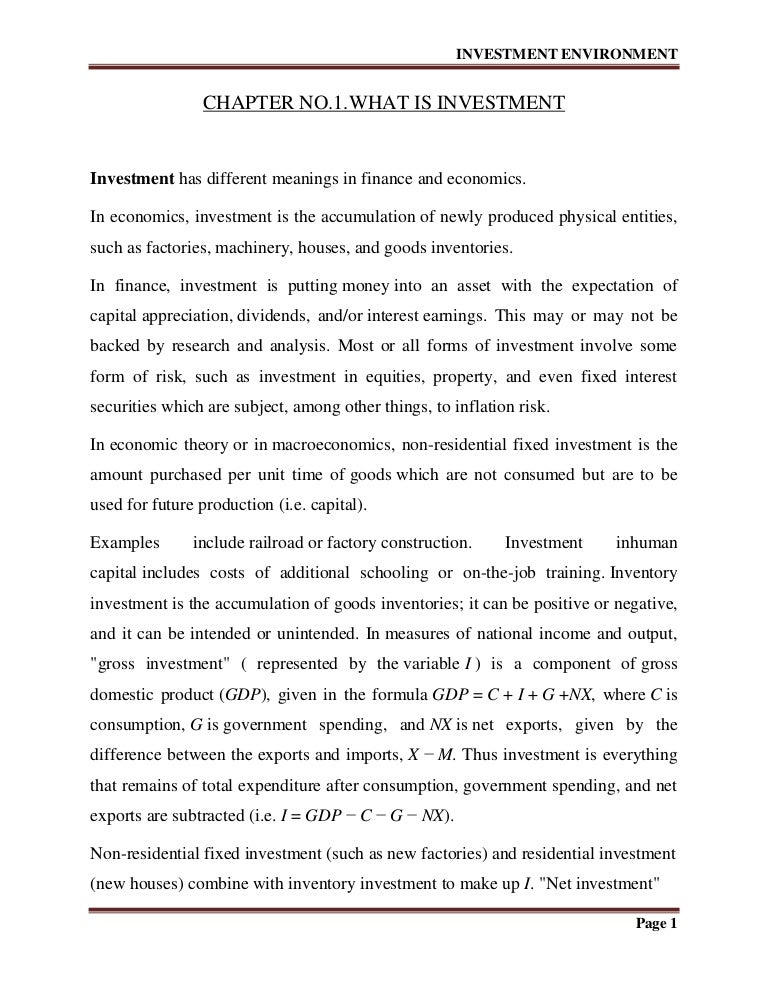 PDF Personal Finance Chapter 2 Investment Options
