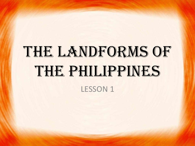The landforms of the philippines sciox Image collections