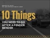 10 Things to Remember if You Are Involved in a Car Accident