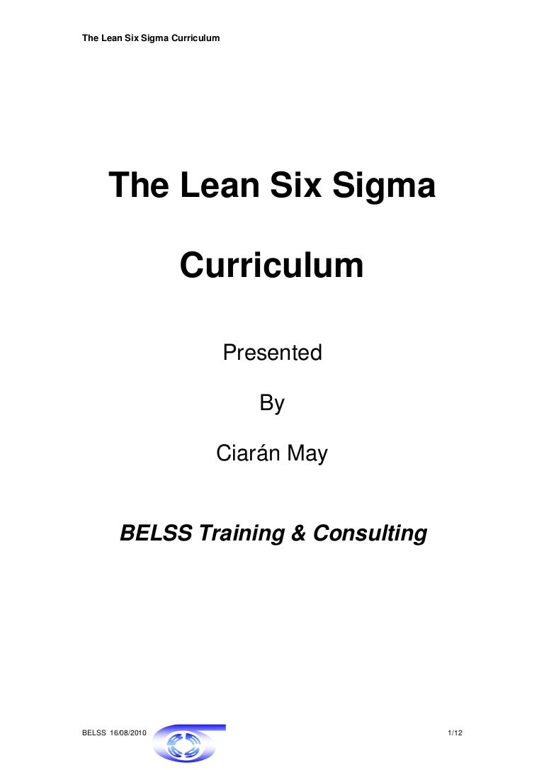 The lean six sigma curriculum rev 2 xflitez Gallery