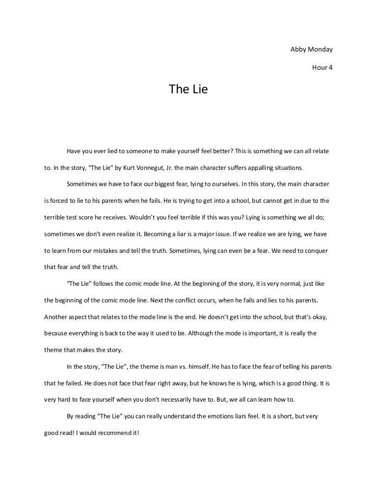 Essay on lying is ok sometimes