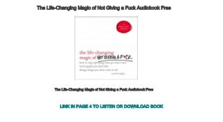 The Life-Changing Magic of Not Giving a Fuck Audiobook Free