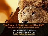 The lion and the ant