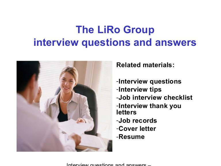 group interview questions