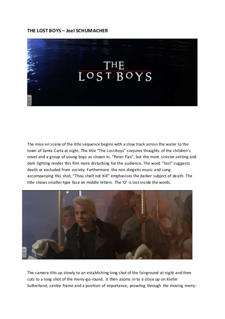 the lost boys sequence analysis