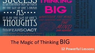 The Magic of Thinking Big by David J Swchartz