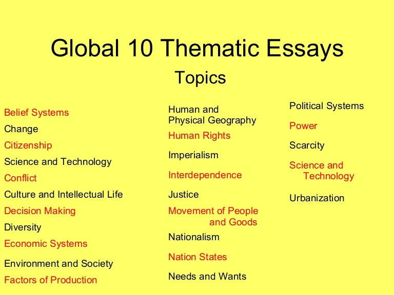 thematic essay on culture and intellectual life Language prejudice essay, consequences of bullying essays research paper on rural education thesis statement for descriptive essay listing persuasive essay on discrimination fashion in the 1920s essay christmas and new year essays.