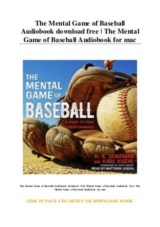 The Mental Game of Baseball Audiobook download free - The Mental Game of Baseball Audiobook for mac
