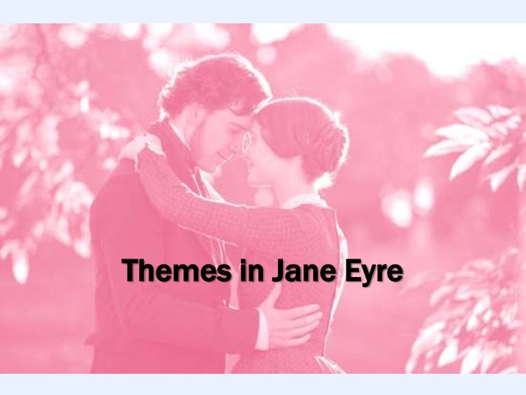 jane eyre thematic The classic jane eyre is the 1944 version with joan fontaine and orson welles fontaine was 27, welles was 29 mia wasikowska is 21 and michael fassbender is 34 in the novel, jane is scarily 20 and rochester is older.