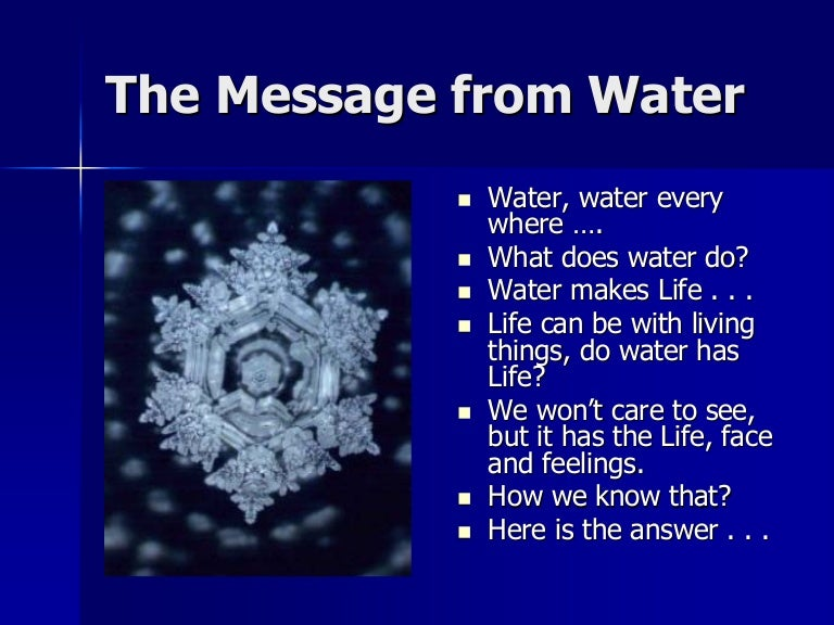 Message from water