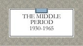 History of Human Resource - Middle Period