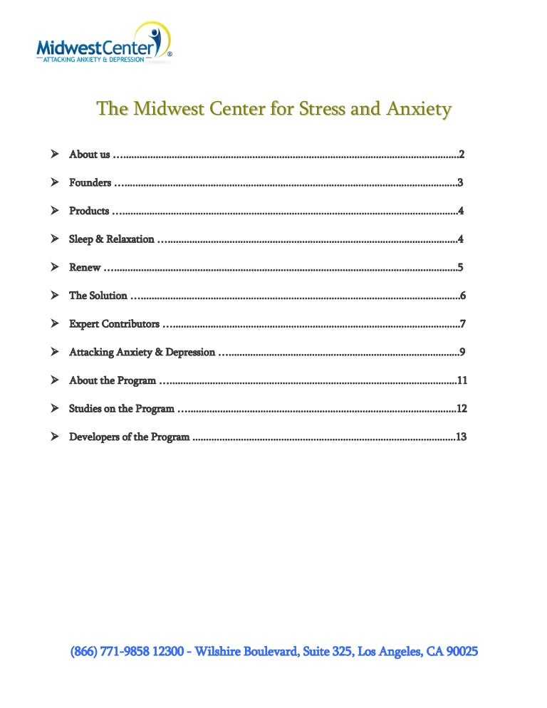 The Midwest Center for Stress and Anxiety
