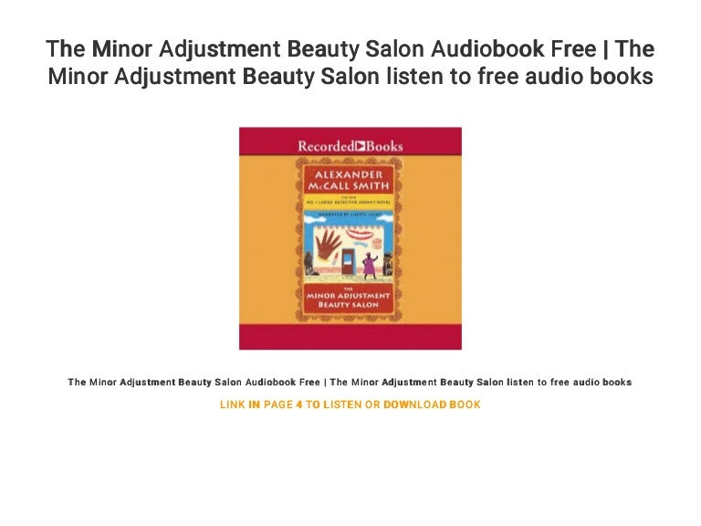The minor adjustment beauty salon audiobook free | the minor adjustme….