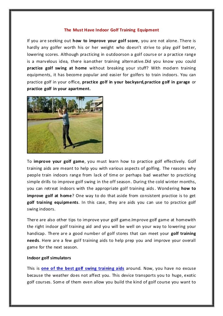 the must have indoor golf training equipment