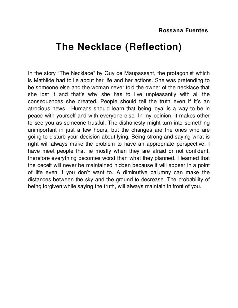 essay on the necklace by guy de maupassant lit alternate end to the necklace essay lit alternate amazon com the necklace essay topics simple