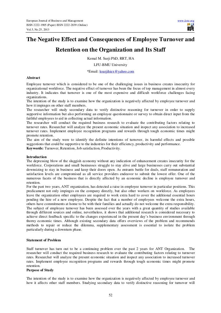 the organization and businesses employee turnover cap The business values the contributions of the salesperson at a higher level, at least in strictly monetary terms, over those of the bookkeeper, although both perform valuable roles the model indicates that the business costs and impact of employee turnover can be grouped into four major categories.