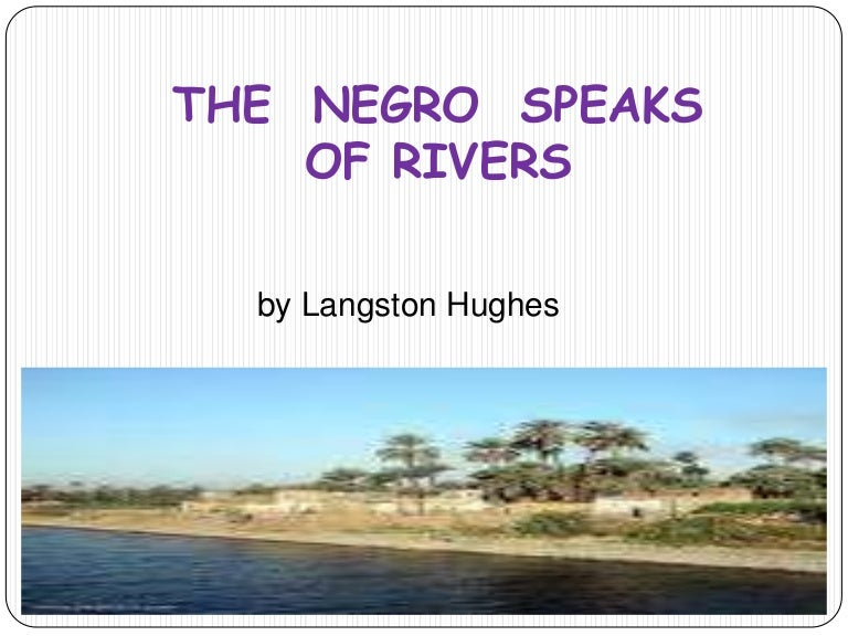the negro speaks of rivers analysis