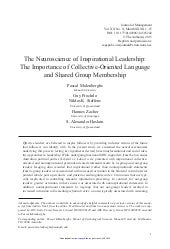 The neuroscience of inspirational leadership   the importance of collective-oriented language and shared group membership