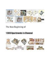 The New Beginning of The 1 BHK Apartments in Chennai