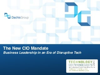 The New CIO Mandate - ASAE Tech Conference 2013 Keynote By Dion Hinchcliffe