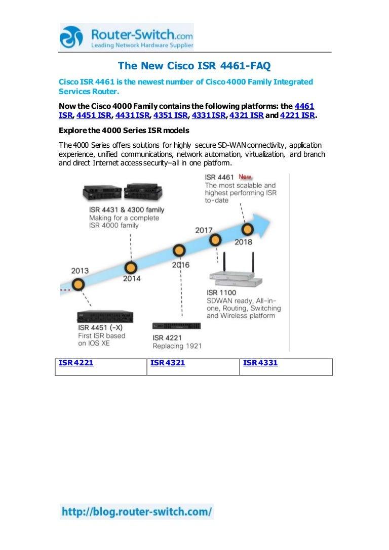 The New Cisco Isr 4461 Faq