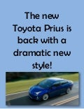 The new Toyota Prius is back with a dramatic new style!