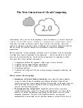 Cloud Computing 2.0