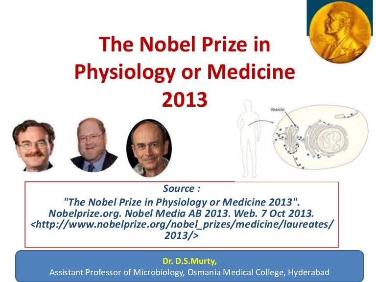 the nobel prize in medicinephysiology 2013