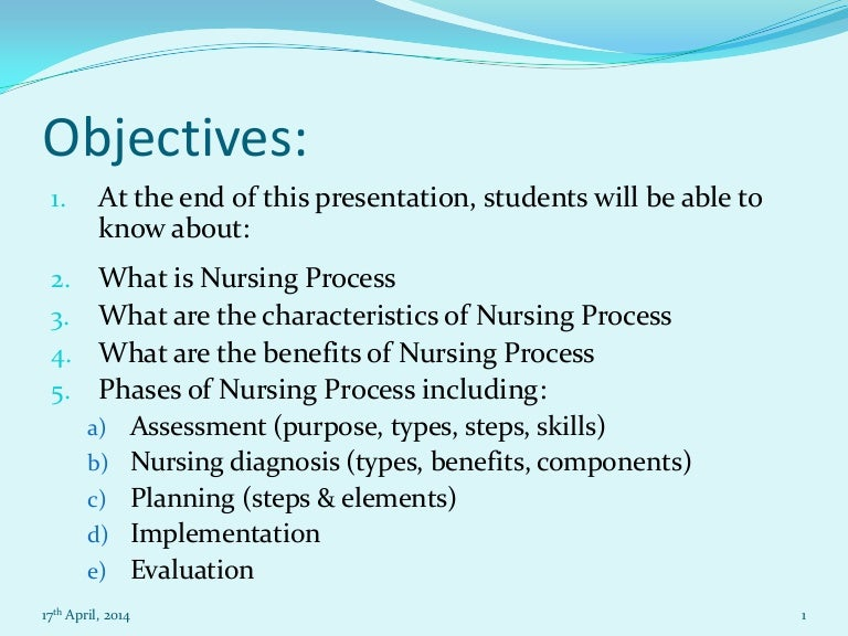 nursing essay on nursing process