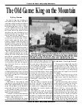 The Old Game-King On The Mountain -  Prophecy In The News Magazine   April 2007