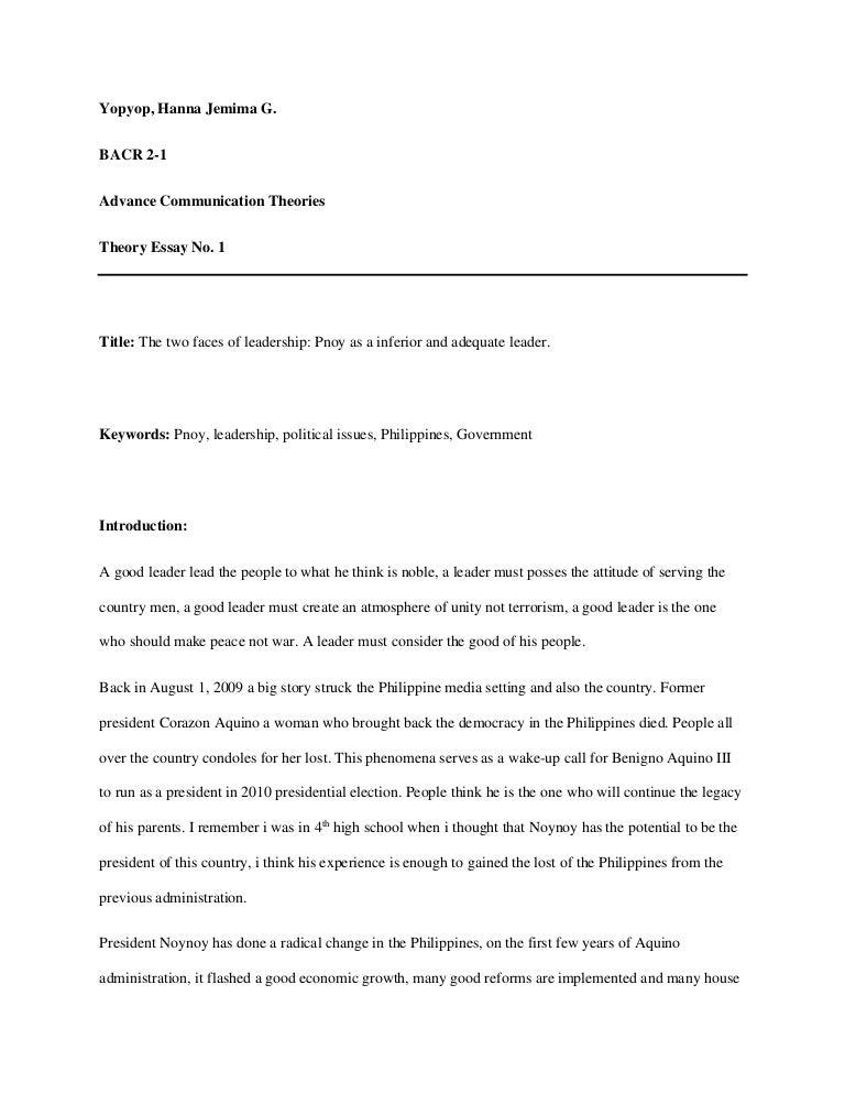 essay on good leadership - Selom.digitalsite.co