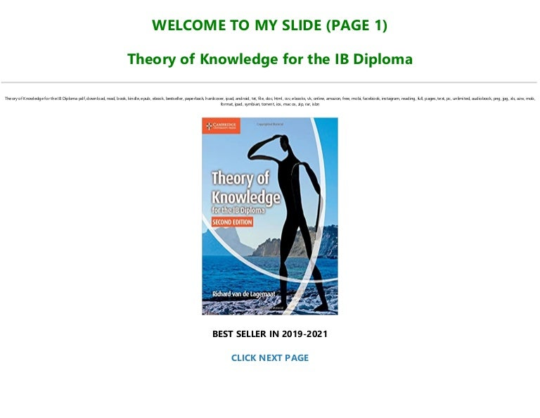 Free [PDF] [DOWNLOAD] Theory of Knowledge for the IB Diploma Full-Acces