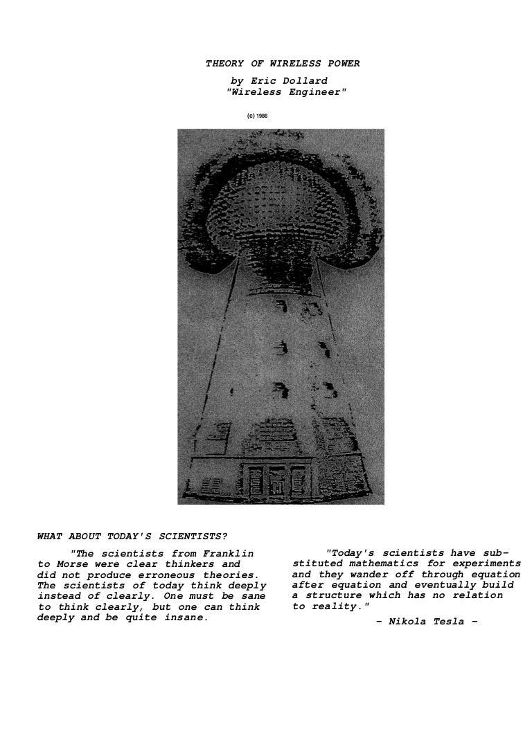 Theory of wireless power by eric dollard ocr
