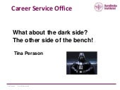 What about the dark side of the lab bench?