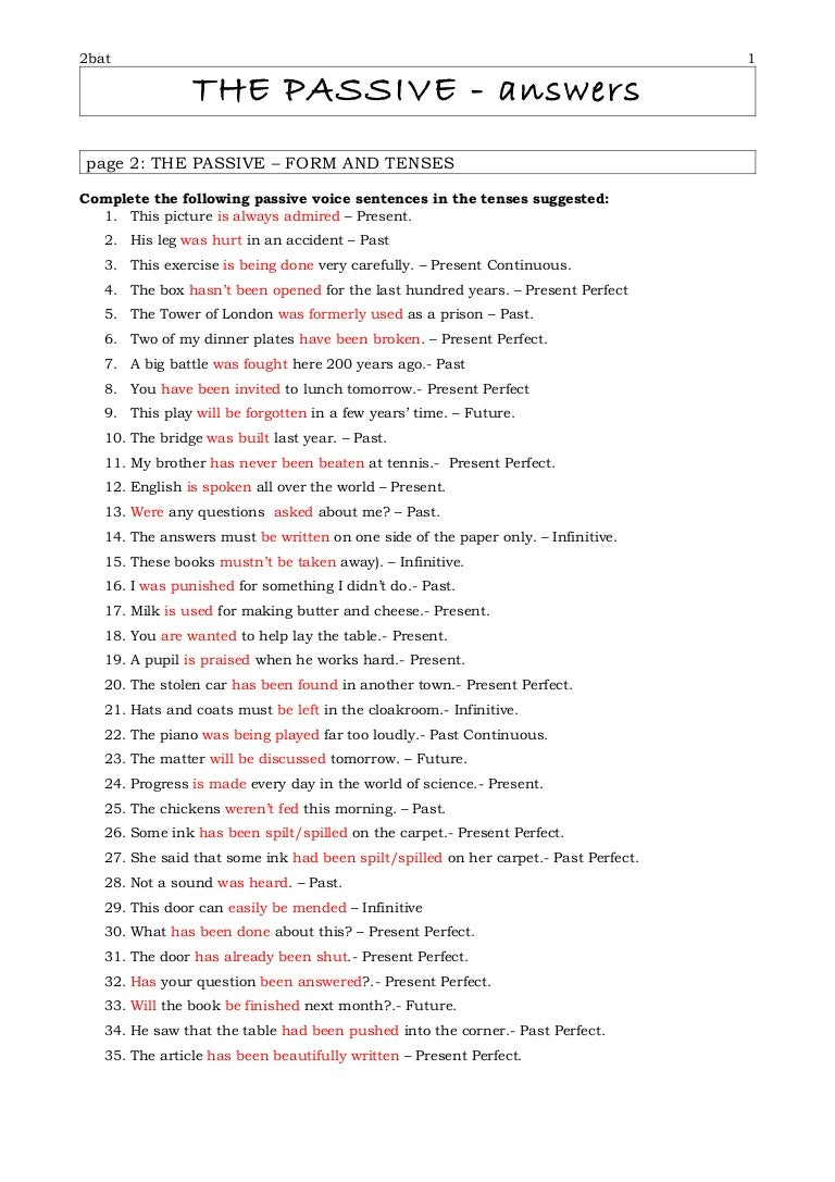 active passive voice worksheet Termolak – Active Vs Passive Voice Worksheet