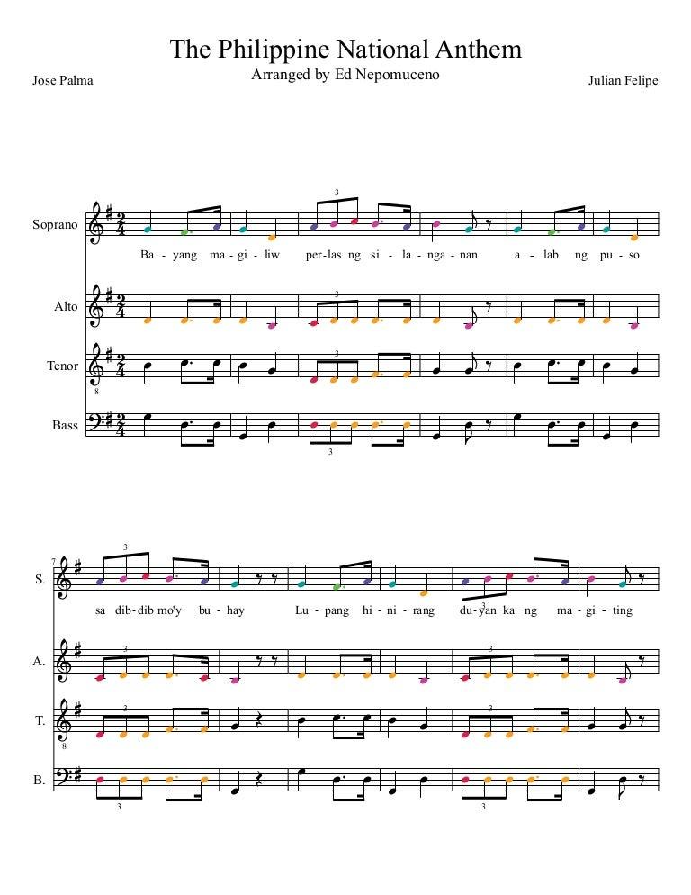 The Philippine National Anthem Satb