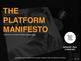The Platform Manifesto - 16 principles for digital transformation