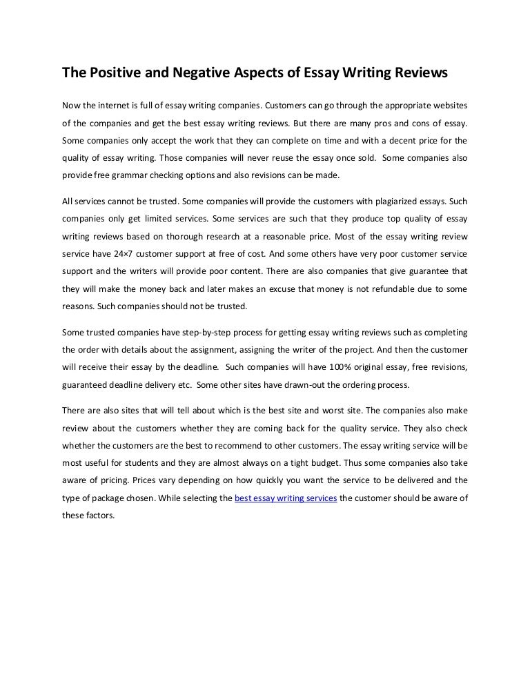 English As A Global Language Essay Thepositiveandnegativeaspectsofessaywritingreviewsphpappthumbnailjpgcb How To Write An Application Essay For High School also English Essay Com The Positive And Negative Aspects Of Essay Writing Reviews Sample Essays High School Students